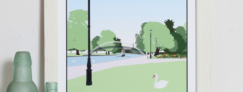 Bedford embankment print